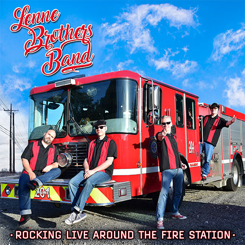 CD Cover: LenneBrothers Band - Rocking Live Around the Fire Station