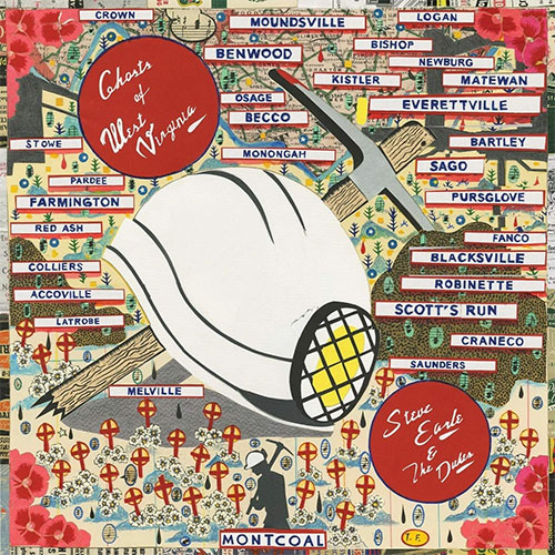 CD Cover: Steve Earle and The Dukes - Ghosts of West Virginia