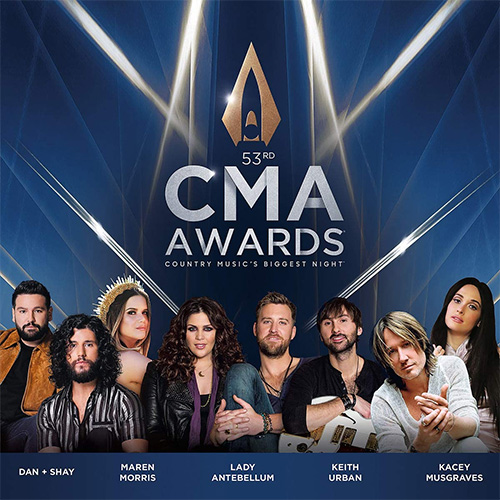 CD Cover: Various Artists - CMA Awards 2019 - Country Music's Biggest Night