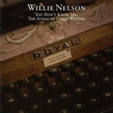 CD Cover Willie Nelson - You Don't Know Me: The Songs of Cindy Walker