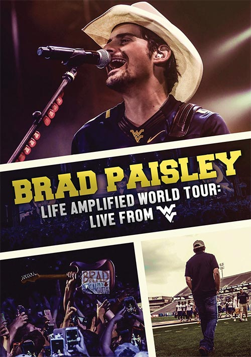 DVD Cover: Brad Paisley - Life Amplified World Tour: Live at WVU