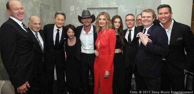 Tim McGraw und Faith Hill unterzeichnen bei Sony Music