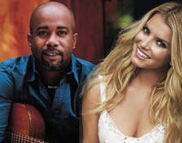 Darius Rucker & Jessica Simpson; Collage: Constain Franke; Fotos: Russ Harrington & Wayne Maser