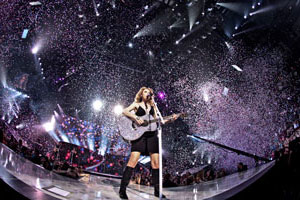 Taylor Swift bei ihrem Auftritt im Toyota Center in Houston; Foto: Christie Goodwin